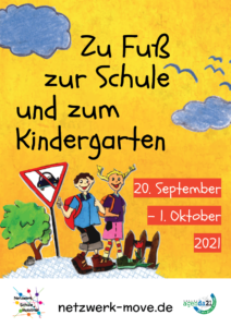 Aktion zu Fuß zur Schule 20.9.-1.10.2021